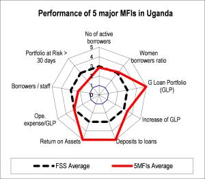 図3-3 エチオピア・ケニア・ウガンダの上位5機関の財務状況の分析例(2006年)3/3