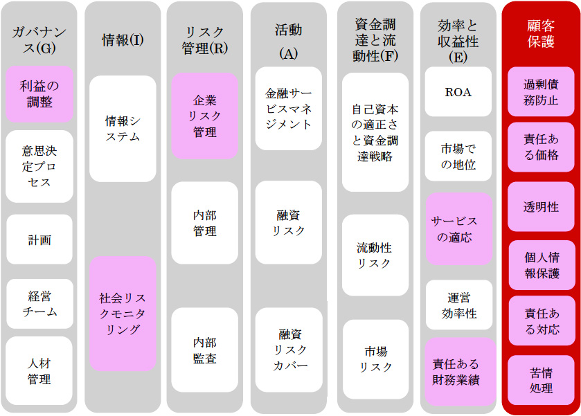 図3-4 Planet Ratingの組織格付けの枠組み