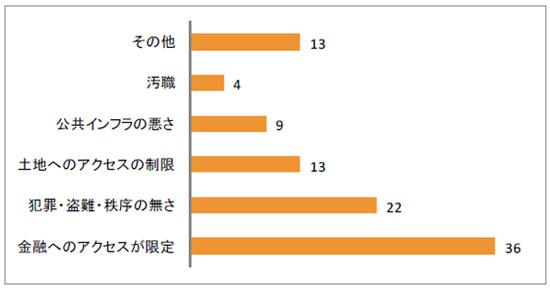 図2-11 インフォーマル事業の運営への最大の障害