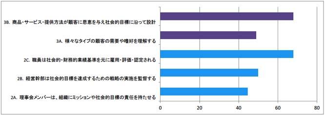 図4-5 CERISEのSPI4による社会的業績(2と3の項目の基準)の評価スコア