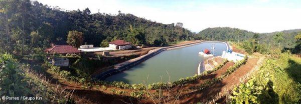 グァテマラの水力発電プラント